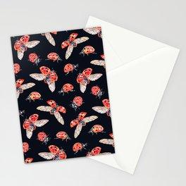 Lucky Ladybugs Pattern Stationery Cards