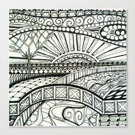 Tangled Land Canvas Print