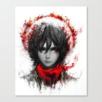 mikasa Canvas Prints featuring still strong by ururuty