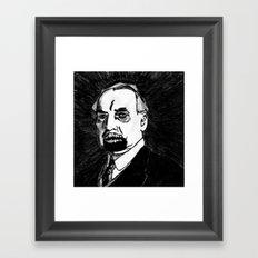 29. Zombie Warren G. Harding  Framed Art Print