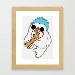 What should I say ? Framed Art Print
