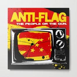 ANTI FLAG THE PEOPLE OR THE GUN TOUR DATES 2019 BAKPAU Metal Print