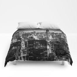 Nighttime Chicago Skyline Comforters