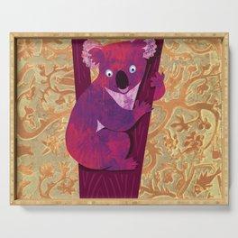 Koala bear in tree - illustration Serving Tray