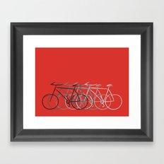 Just bike Framed Art Print