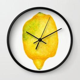 Fresh Lemon Watercolor Wall Clock