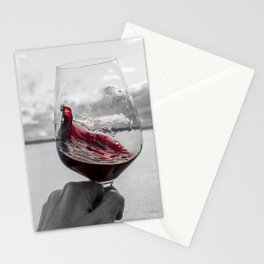 Swirling Red Stationery Cards