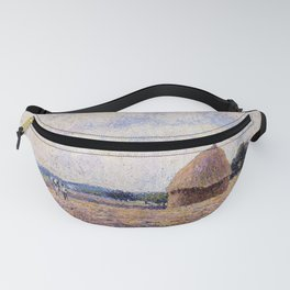 Haystack Eragny 1885 By Camille Pissarro   Reproduction   Impressionism Painter Fanny Pack