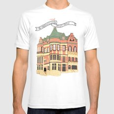 Archer Avenue MEDIUM Mens Fitted Tee White