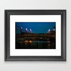 PNC Park pathways Framed Art Print