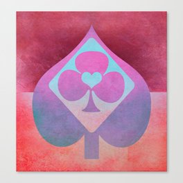 Full of Aces (Violet Version) Canvas Print