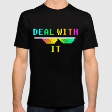 Deal With It Mens Fitted Tee MEDIUM Black