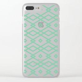 Green Nat Art Set of wallpaper design Clear iPhone Case