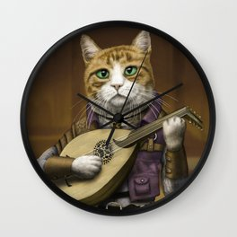 Bard Cat Wall Clock