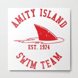 Amity Island Swim Team Metal Print