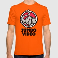 Jumbo Video Mens Fitted Tee Orange MEDIUM