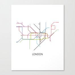 London Subway Map Print - London Metro Canvas Print
