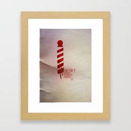 Sweeney Todd - Minimal Musicals Framed Art Print