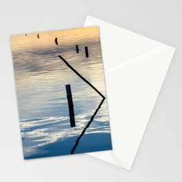 Pieces of wood reflection Stationery Cards