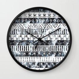 PRIYA Stripe {B&W} Wall Clock