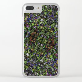 Bee in Flowers Clear iPhone Case
