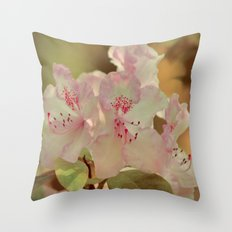 Pink Rhdodendron Throw Pillow