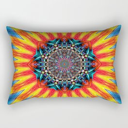 Sun Mandala Rectangular Pillow