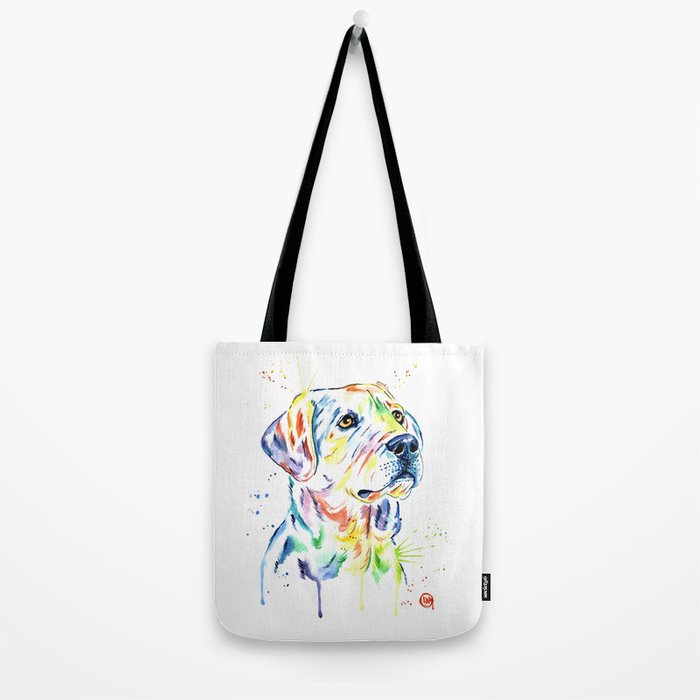 Yellow Lab Colorful Watercolor Painting - Puppy Star Tote Bag