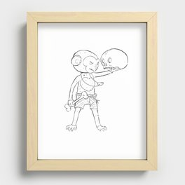 Monkey Pirate - ink Recessed Framed Print