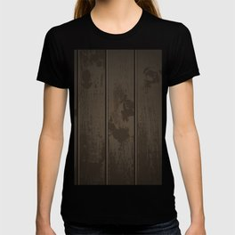 Dark Wood Fence Pattern T-shirt