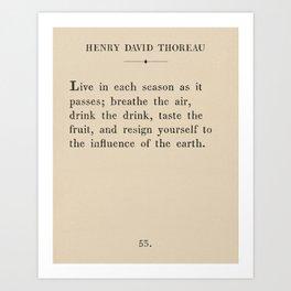 Thoreau: Live Each Season Art Print