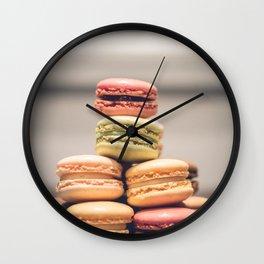 Macaron Delights Wall Clock