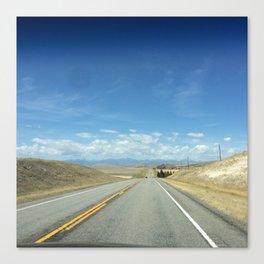 Montana Road Canvas Print