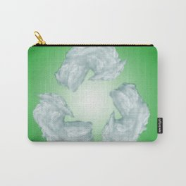 recycling eco symbol Carry-All Pouch