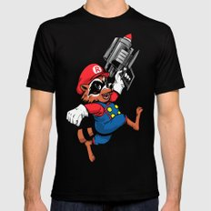 Super Rocket Mens Fitted Tee Black LARGE