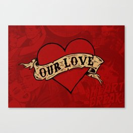 Our Love Canvas Print