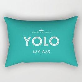 YOLO MY ASS Rectangular Pillow