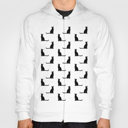 Black cat pattern Hoody