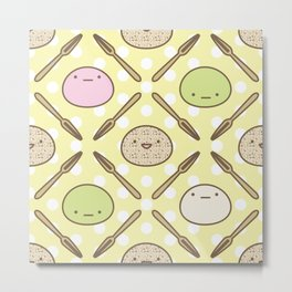 Mochi Kochi | Pattern in Yellow Metal Print