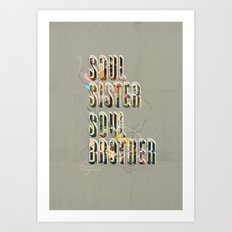 Soul Sister | Soul Brother - illustrations - Cover Art Print