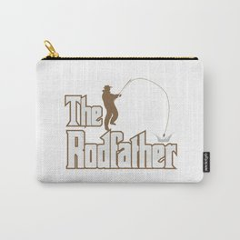 Funny Rodfather Fishing Angling Fishermen Gift Carry-All Pouch
