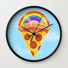 Pizza Is Magic Wall Clock
