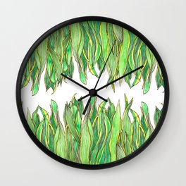 The Snake Plant Wall Clock