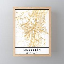 MEDELLÍN COLOMBIA CITY STREET MAP ART Framed Mini Art Print