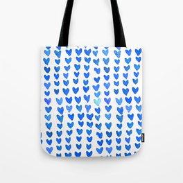 Brush stroke hearts - blue Tote Bag