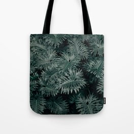 Monstera Leaves - Blue Tote Bag