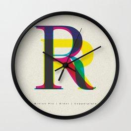 "Serif ""R"" Wall Clock"