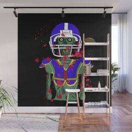 Zombie Football Player Wall Mural