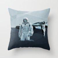 interstellar Throw Pillows featuring Interstellar by ANDRESZEN