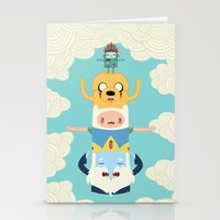 jake Stationery Cards featuring Adventure Totem by Daniel Mackey